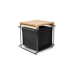 Grit Black / Stool | Storage boxes | bartmann berlin