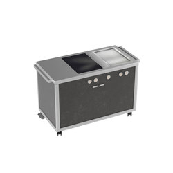 Cooking carts | Induction top & Teppanyaki station | Cuisines modulaires | La Tavola