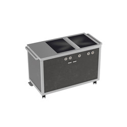 Cooking carts | Double Induction top station | Cuisines modulaires | La Tavola