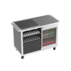 Special carts | Coffee&Tea break cart  with warming&cooling top | Modular kitchens | La Tavola