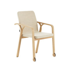 Mino armchair with wheels | Chairs | Swedese