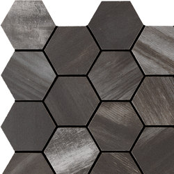 Wood on Fire | Esagona Dark Mosaico 30x30 cm | Ceramic tiles | IMSO Ceramiche