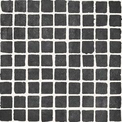 Bibulca | Black Mosaico Spaccatella 3x3 cm | Keramik Mosaike | IMSO Ceramiche