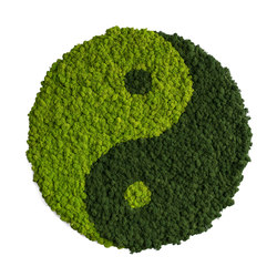 Circle | Reindeer moss yin and yang 80cm | Wall decoration | styleGREEN