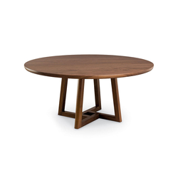 Roulette Round Extension Table - Split Base | Tables de repas | Altura Furniture