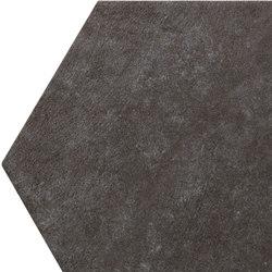 Bibulca | Esagona Black 21x18 cm | Keramik Fliesen | IMSO Ceramiche