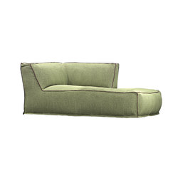 Soft Modular Sofa Dormeuse Left Version | Méridiennes de jardin | Atmosphera