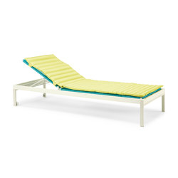 Allaperto Camping chic Sunbed with Mattress | Sun loungers | Ethimo