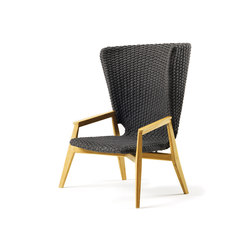 Knit Lounge high back armchair | Sessel | Ethimo