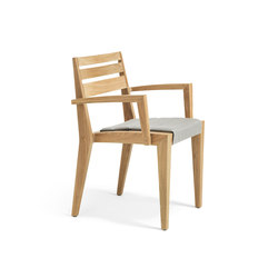 Ribot Dining armchair with Cushion | Gartenstühle | Ethimo