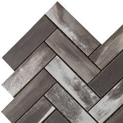 Wood on Fire | Herringbone Dark Mosaico 30x30 cm | Floor tiles | IMSO Ceramiche