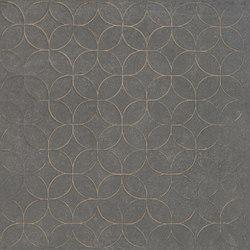 Karman Ceramica Decorata Singolo Floreale Antracite | Ceramic tiles | EMILGROUP
