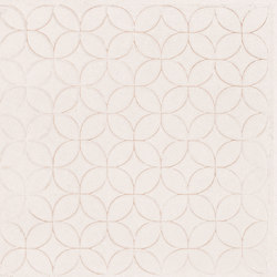 Karman Ceramica Decorata Singolo Floreale Avorio | Ceramic tiles | EMILGROUP