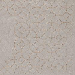 Karman Ceramica Decorata Singolo Floreale Cenere | Ceramic tiles | EMILGROUP