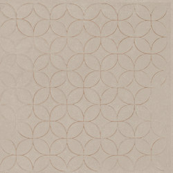 Karman Ceramica Decorata Singolo Floreale Sabbia | Baldosas de cerámica | EMILGROUP