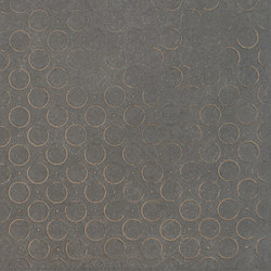 Karman Ceramica Decorata Singolo Geometrico Antracite | Ceramic tiles | EMILGROUP