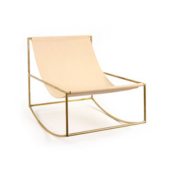 rocking chair | brass_leather | Armchairs | valerie_objects