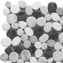 Sassi | River Black Mix Mosaico 30x30 cm | Mosaïques en pierre naturelle | IMSO Ceramiche