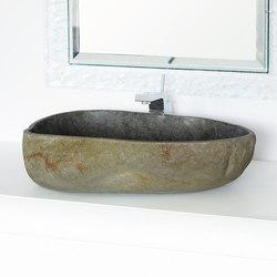 Lavabi | Ovale Riverstone d.40/60 h.15 cm | Waschtische | IMSO Ceramiche