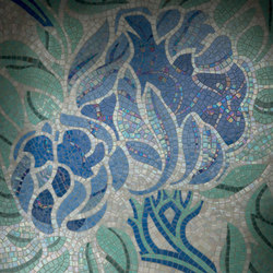 Royal Waves | Fine Flower Decor 15X15 | Mosaicos de vidrio | Mosaico+