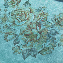 Royal Waves | Sweet Roses Decor 15x15 | Glass mosaics | Mosaico+