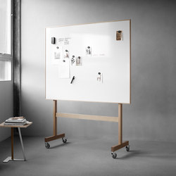 Wood mobile Whiteboard | Flipcharts / Tafeln | Lintex