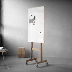 Wood mobil whiteboard | Flip charts / Writing boards | Lintex