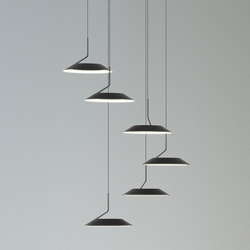 Royyo Pendant (Circular with 6 pendants), Matte Black | Suspensions | Koncept