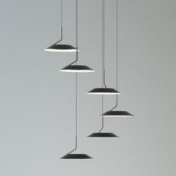 Royyo Pendant (Circular with 6 pendants), Matte Black | Allgemeinbeleuchtung | Koncept