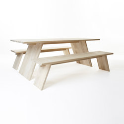 Puzzle table 2000 | bench 1800 | Tables and benches | Shaping Objects Scandinavia