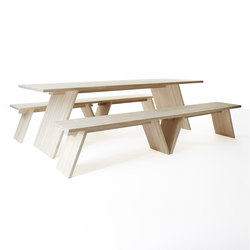 Puzzle table 2400 | bench 1200 | Tables and benches | Shaping Objects Scandinavia
