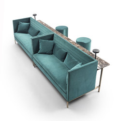 Stripes Velvet Sofa | Furniture | Marelli