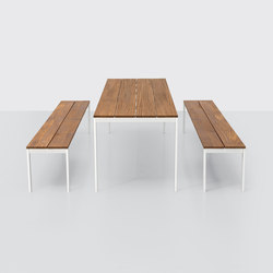 be-Easy slatted Table & Benches | Mesas comedor | Kristalia