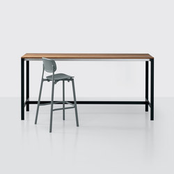 be-Easy slatted Bartable | Tables debout | Kristalia