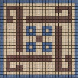 Memoria Ombra MEMOA11 blau braun beige | Mosaici | Appiani