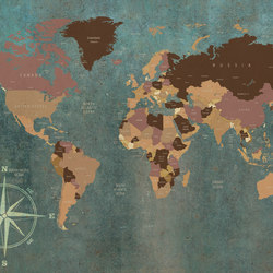 World Map | Wall art / Murals | INSTABILELAB