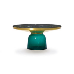 Bell Coffee Table brass-marble-green | Coffee tables | ClassiCon