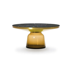 Bell Coffee Table brass-marble-orange | Coffee tables | ClassiCon