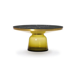 Bell Coffee Table brass-marble-yellow | Coffee tables | ClassiCon