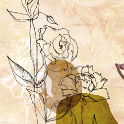 Jardin De Vent | Carta parati / tappezzeria | Inkiostro Bianco