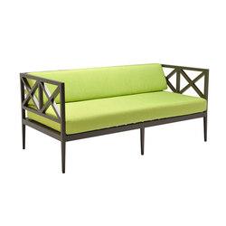 AZIMUTH CROSS LOUNGE SETTEE | Garden sofas | JANUS et Cie