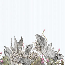 Iguanas | Wall coverings / wallpapers | Inkiostro Bianco