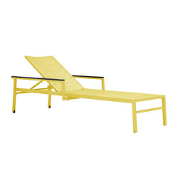 DUO CHAISE LOUNGE WITH ARMS | Tumbonas | JANUS et Cie