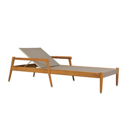KONOS CHAISE LOUNGE WITH ARMS | Sun loungers | JANUS et Cie