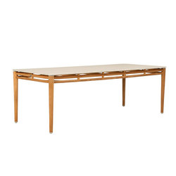 KONOS STONE TOP DINING TABLE RECTANGLE 224 | Restaurant tables | JANUS et Cie