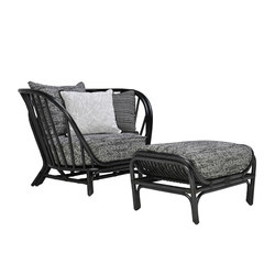 KYOTO RATTAN LOUNGE CHAIR & OTTOMAN | Lounge chairs | JANUS et Cie