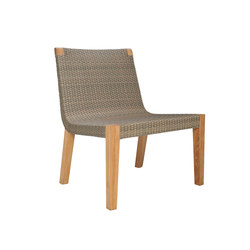 QUINTA TEAK / WOVEN LOUNGE SIDE CHAIR | Armchairs | JANUS et Cie