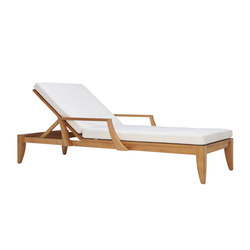 RELAIS CHAISE LOUNGE WITH ARMS | Sun loungers | JANUS et Cie