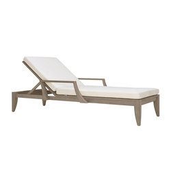 RELAIS CHAISE LOUNGE WITH ARMS | Tumbonas | JANUS et Cie