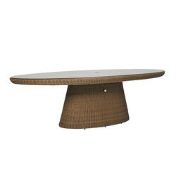 STRADA GLASS TOP DINING TABLE OVAL 260 | Tables de repas | JANUS et Cie